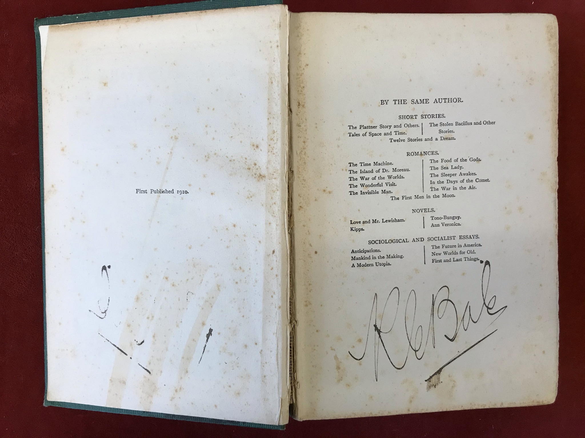 The History of Mr. PollyFirst edition, no D/W, flaked spine, 1910 - Image 3 of 3