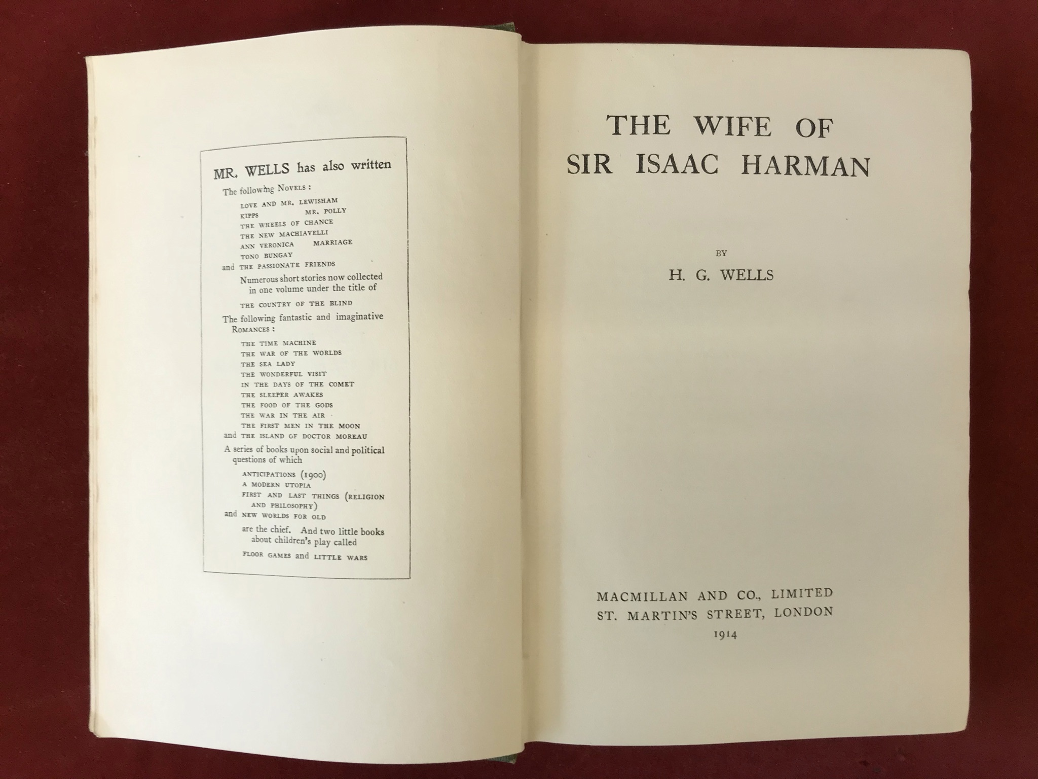 The Wife of Sir Isaac HarmanFirst edition, 1914 - Image 3 of 3