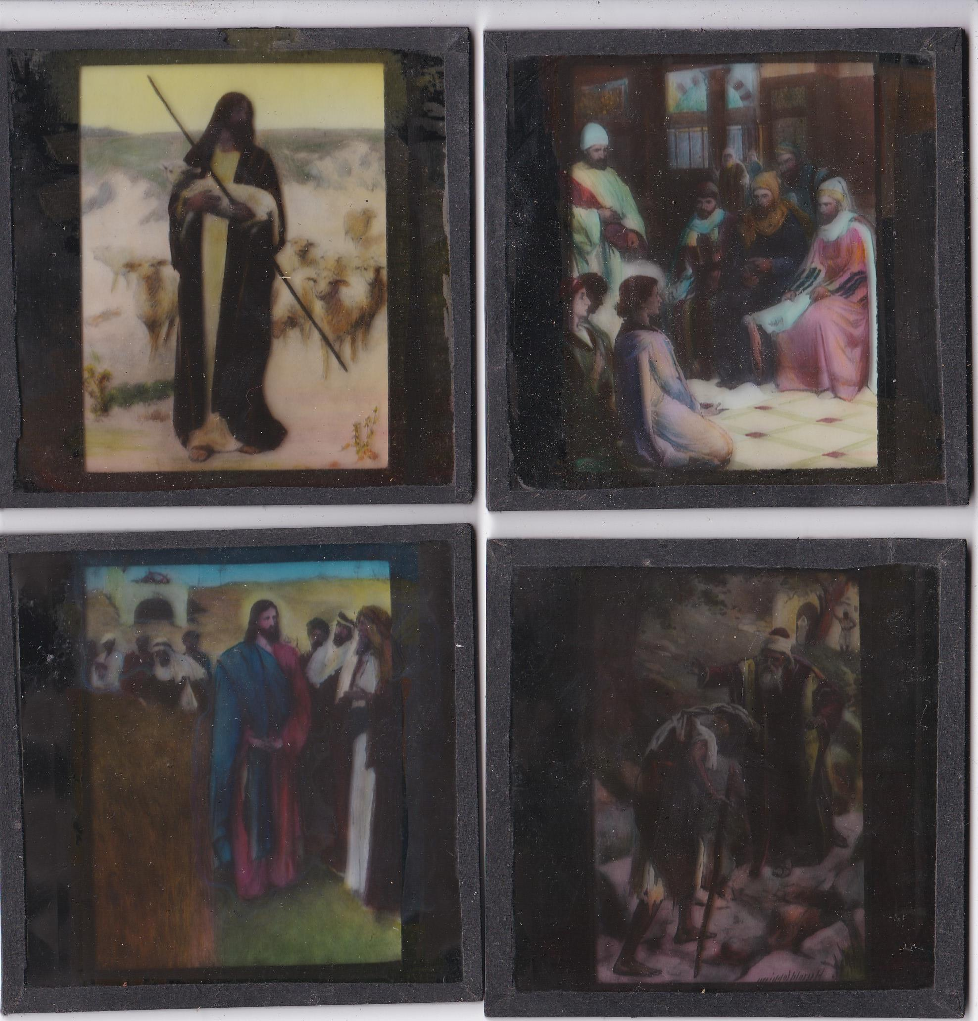 Religious Magic Lantern Slides (12) colour slides including: Joseph's Father in Egypt, Moses, The - Image 3 of 3