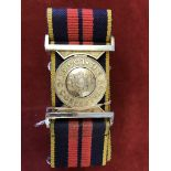 The Royal Logistic Corps Stable Belts (2) one with Staybright buckle and made 'Toye Kenning &