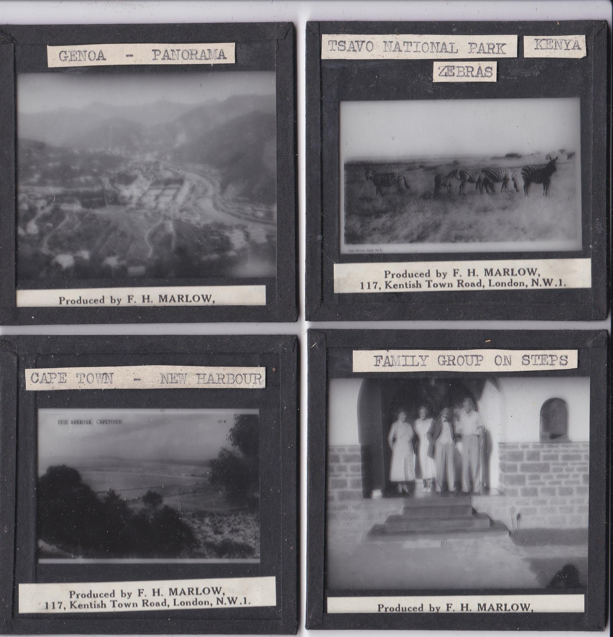 Views in Africa b/w Magic Lantern Slides (11) produced by F.H. Marlow including: Tsavo National Park