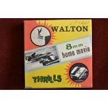 Stock Car Racing Cine Film Std 8mm B/W Film Reel made by Walton 8 Home Movies