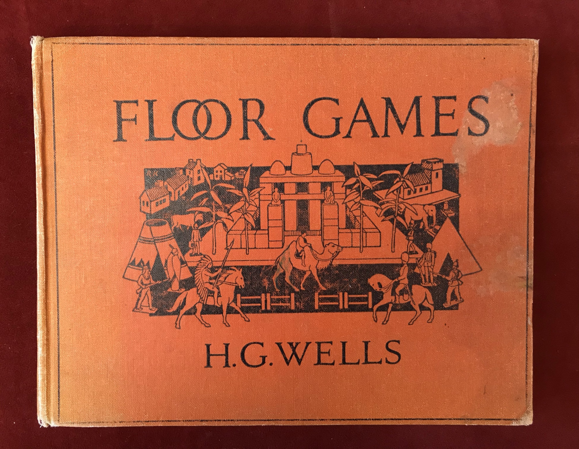 Floor Games1931 edition, slightly stained cover, 1911