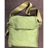 British WWII Army Issue MKVII Gas Mask and carry satchel with any dimming compound, the bag