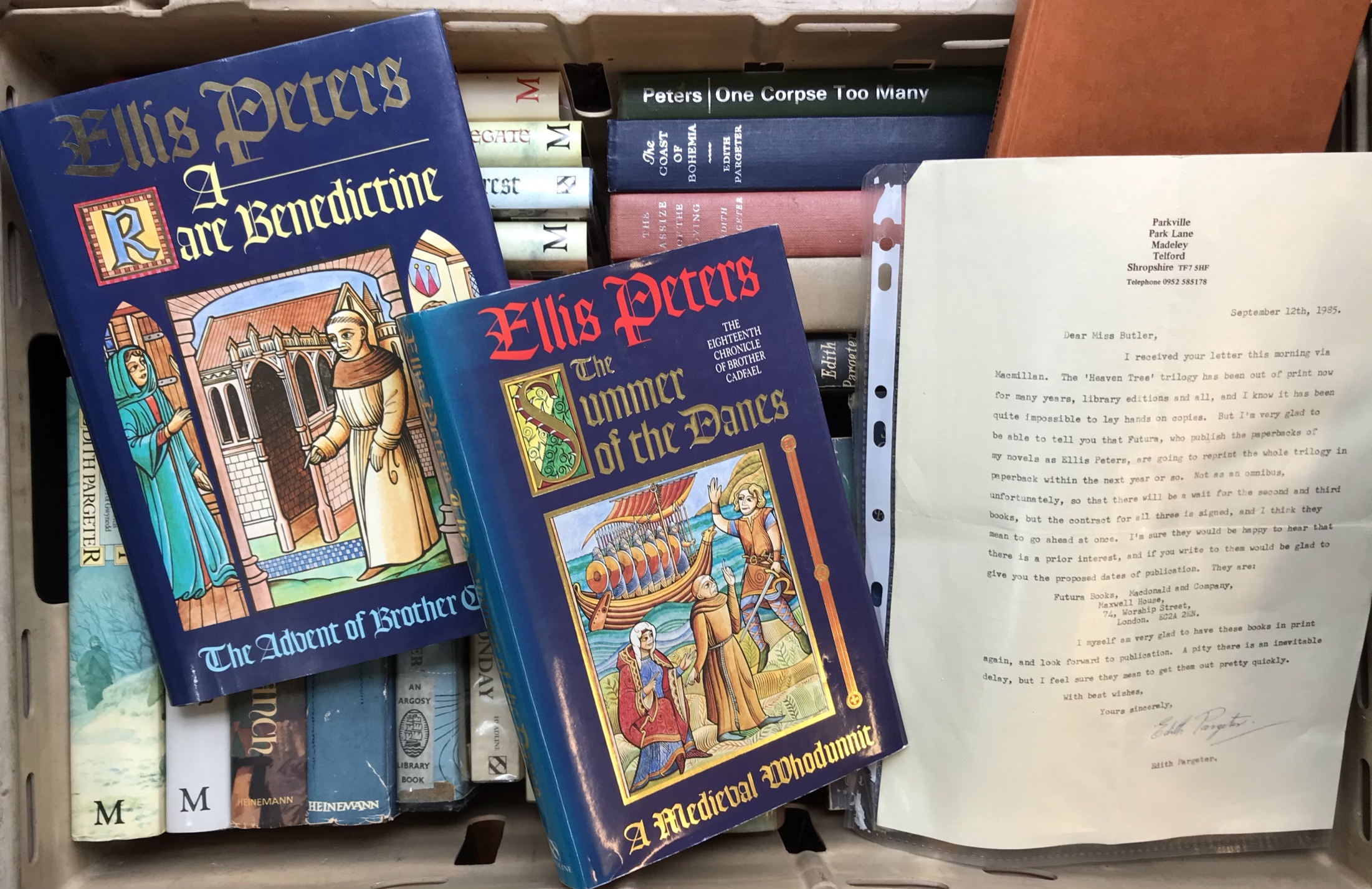 Fiction: A collection of 33 Edith Pargeter novels with dust jackets with 1st editions of Most Loving