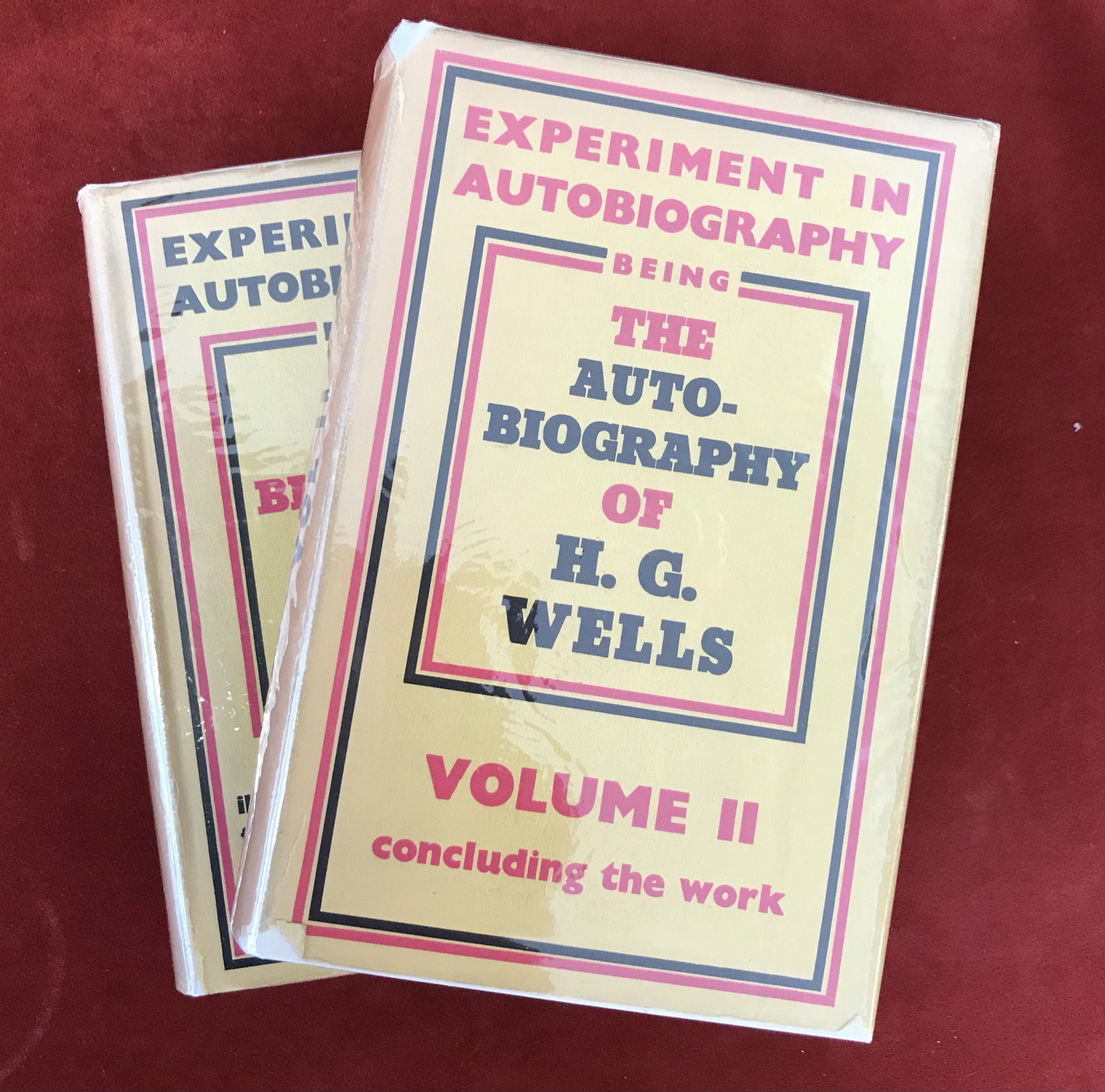 Experiment in Autobiography 2 volumesFirst editions, 1934