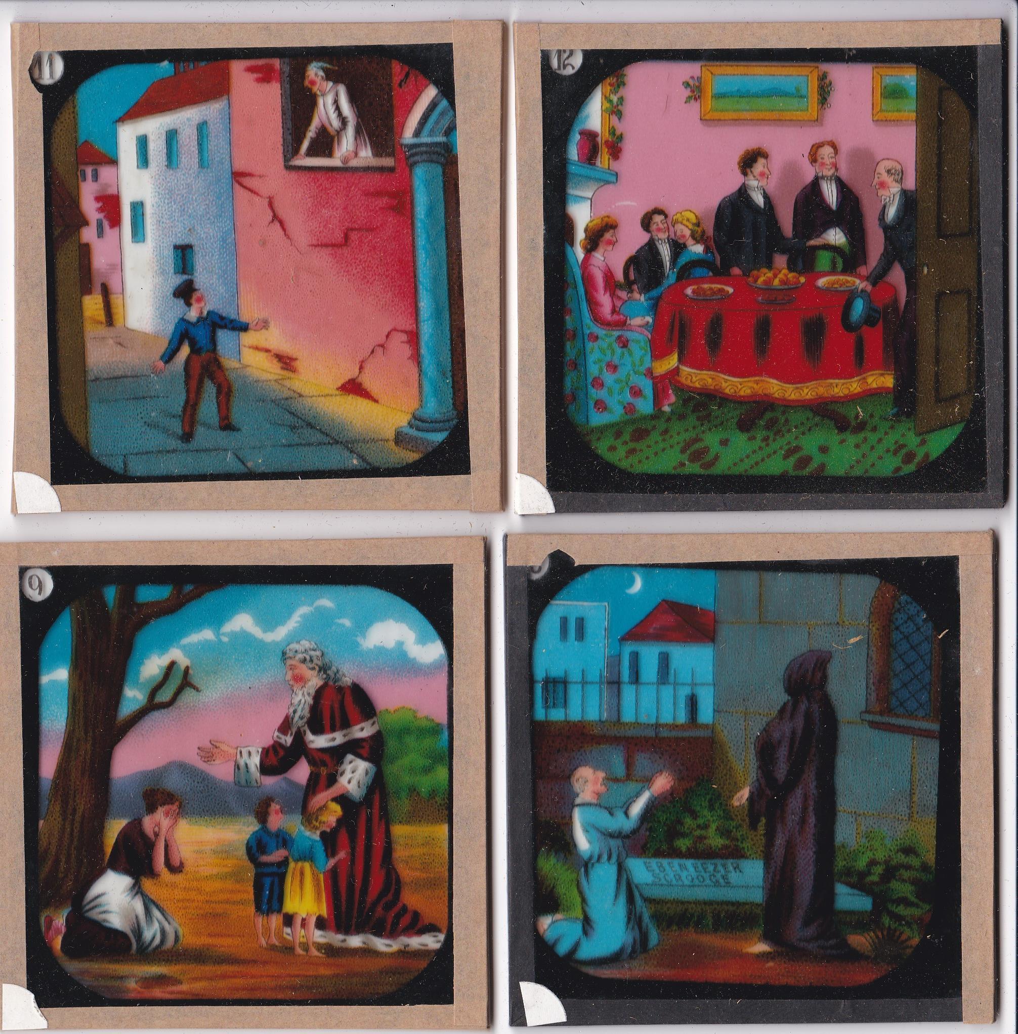 "Christmas Carol Magic Lantern Slides (complete set of 12), the ""Indcol"" Coloured Optical Lantern - Image 4 of 4"