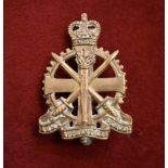 Army Apprentices School EIIR (School Cap Badge), (Gilding-metal), two lugs and made J.R. Gaunt,