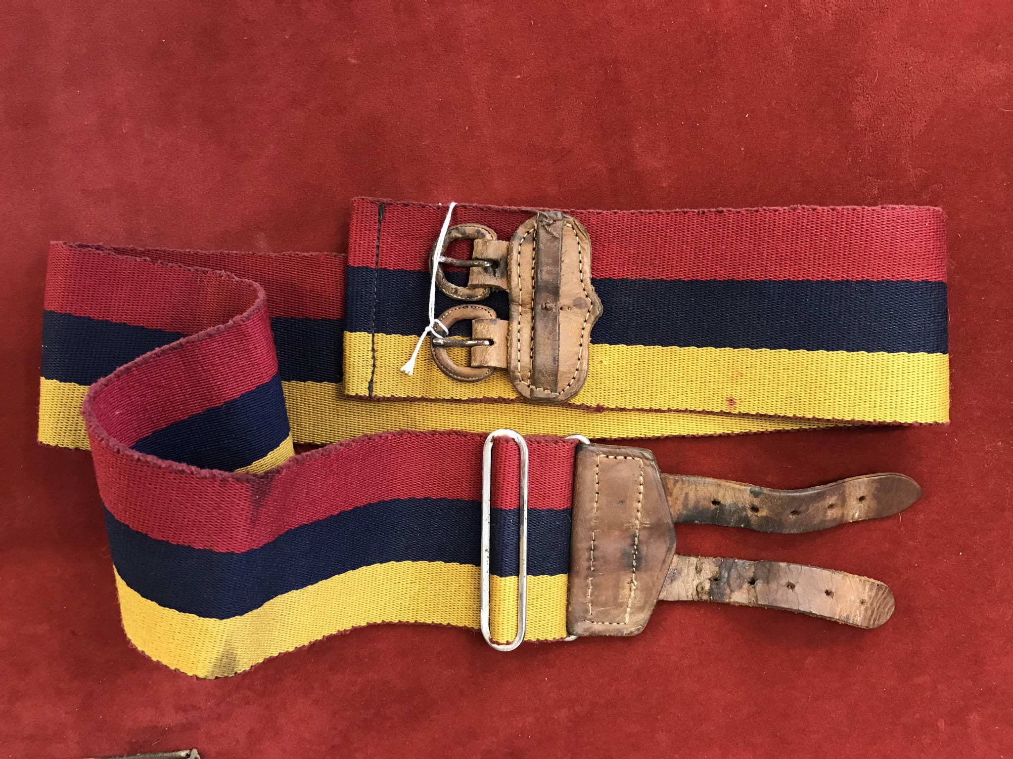 Royal Army Medical Corps Stable belt with leather strap fitting. - Image 2 of 2