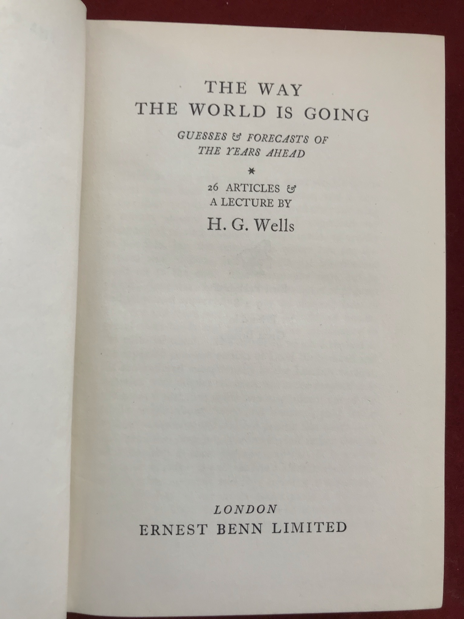 The Way the World is GoingFirst edition, 1928 - Image 2 of 3