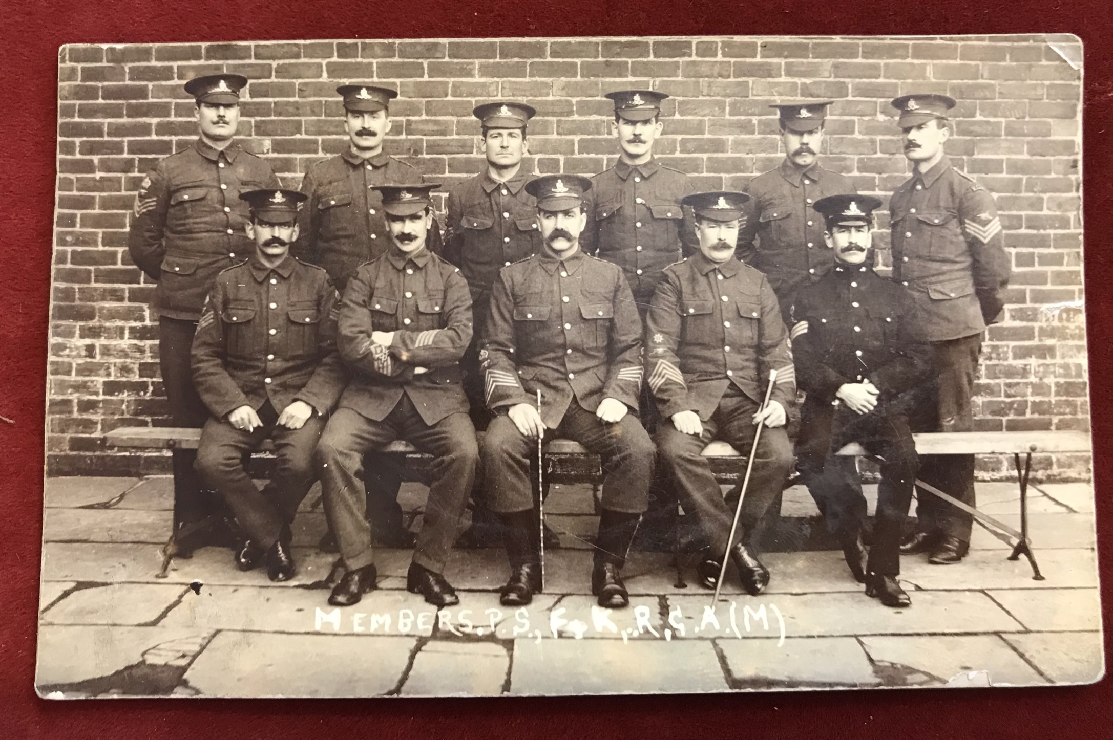 "Royal Garrison Artillery WWI excellent group RP, Senior NCO's ""Members P.S.F.R. RGA (M), great"