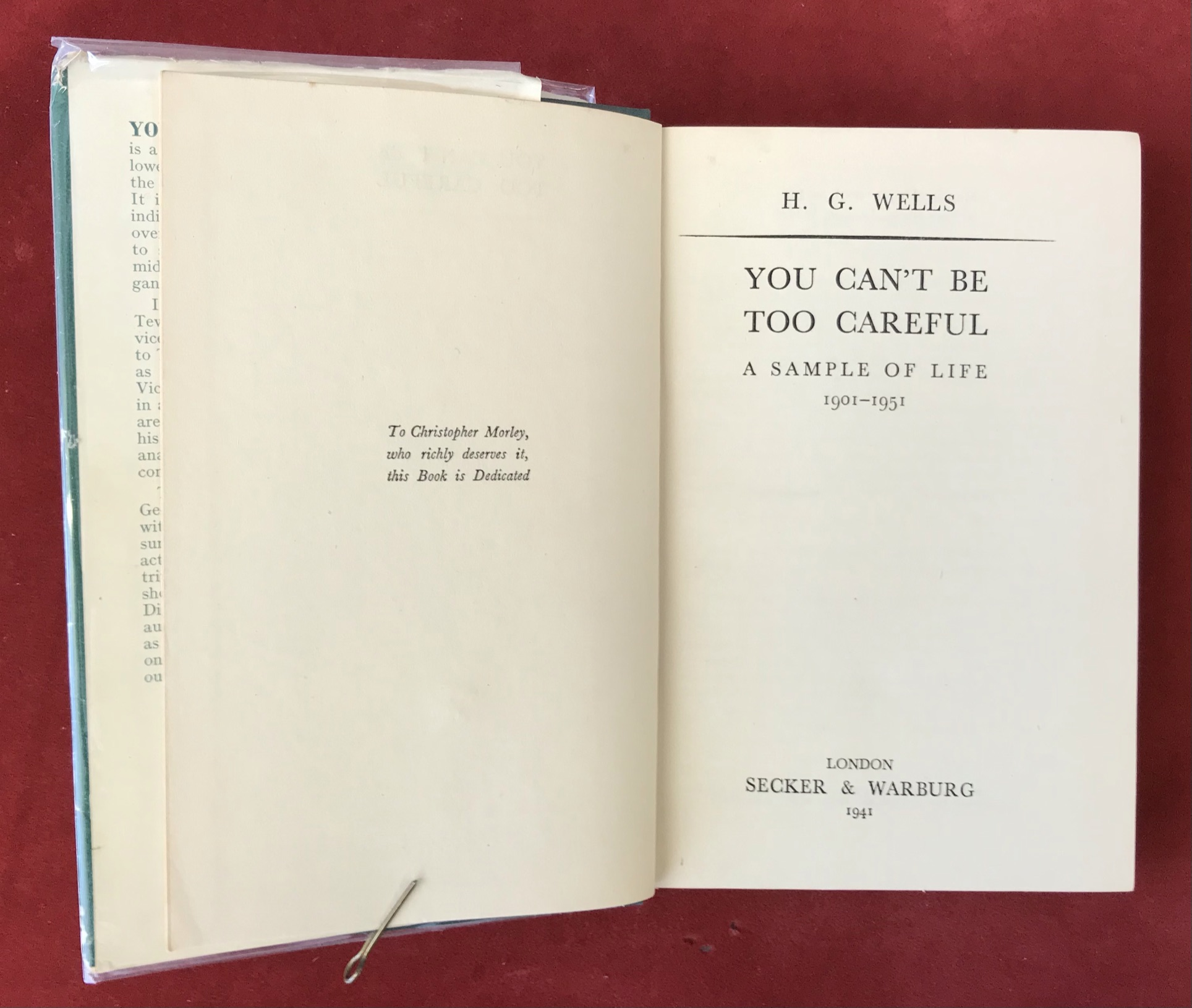 You Can't Be Too CarefulFirst edition with D/W, 1941 - Image 2 of 2