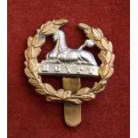 Gloucestershire Regiment Edwardian Back/Rear Cap Badge (Bi-metal), slider has been shortened.