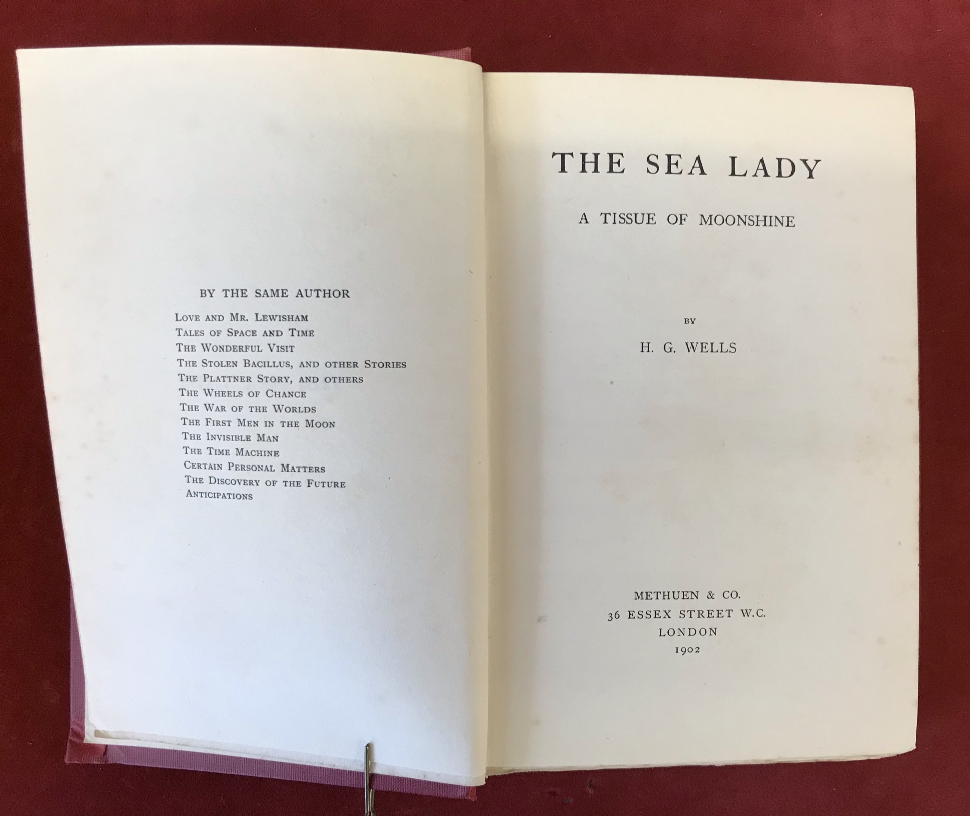 The Sea Ladyby H.G. Wells, First edition, 'later issue' 1902 - Image 3 of 3