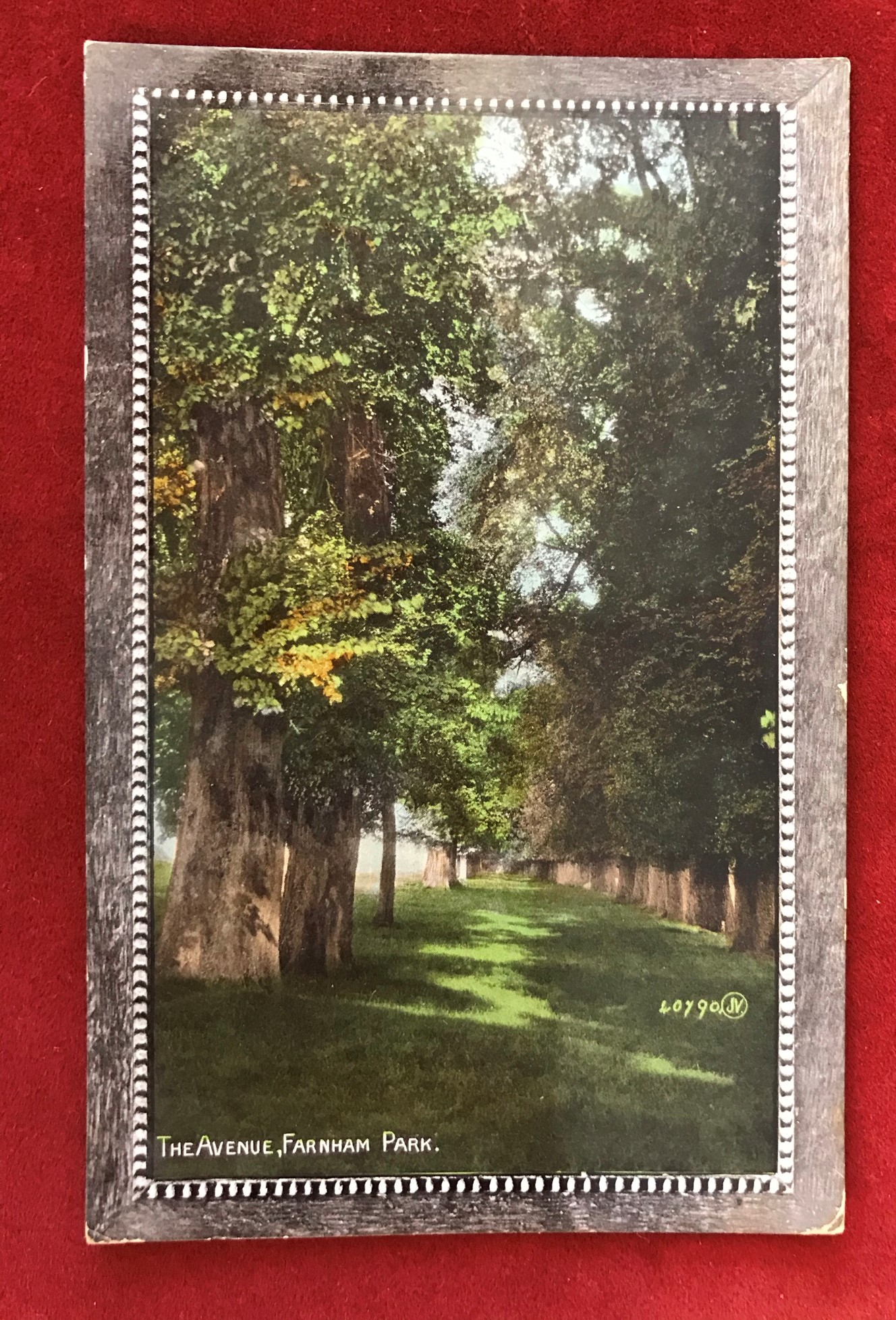 Military Camp Postcard - 1910 Bordon Camp/Hants scarce *** Single ring date stamp on colour