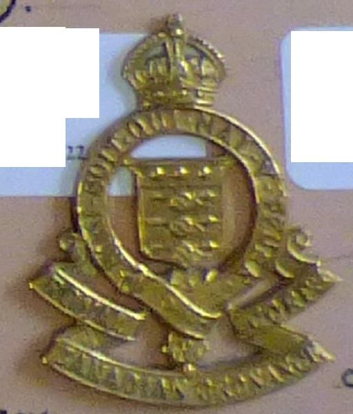 Canada - Royal Canadian Ordnance Corps Cap Badge, Brass KC