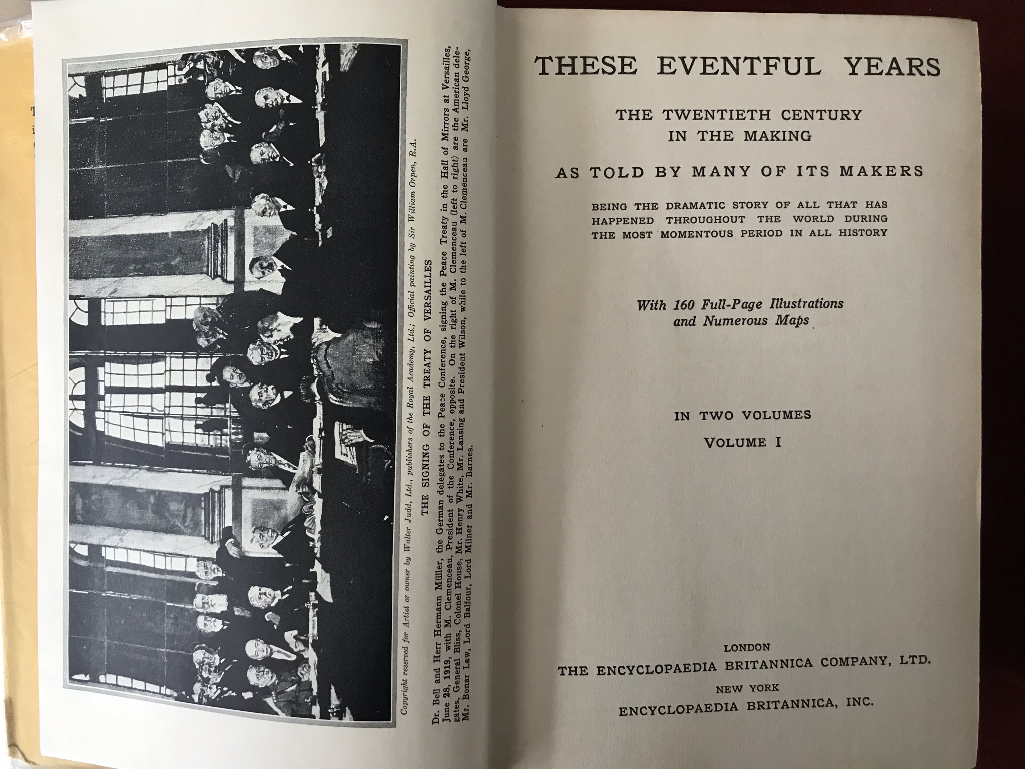 These Eventful Yearstwo volumes. Volume one with D/W good condition, volume two no D/W fair - Image 4 of 4