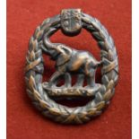 South African Army WWII Native Military Corps (N.E.A.S.) Cap Badge (Bronze), two lugs.