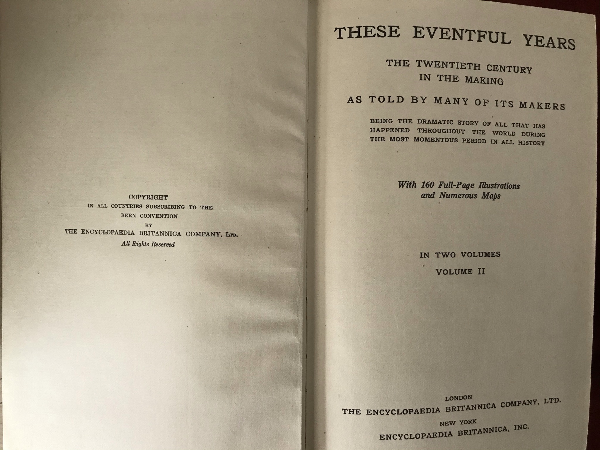 These Eventful Yearstwo volumes. Volume one with D/W good condition, volume two no D/W fair - Image 3 of 4