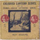 Boy Scouts set 2 (Campaigning) Magic Lantern Coloured slides, Primus Junior Lecturers series, The
