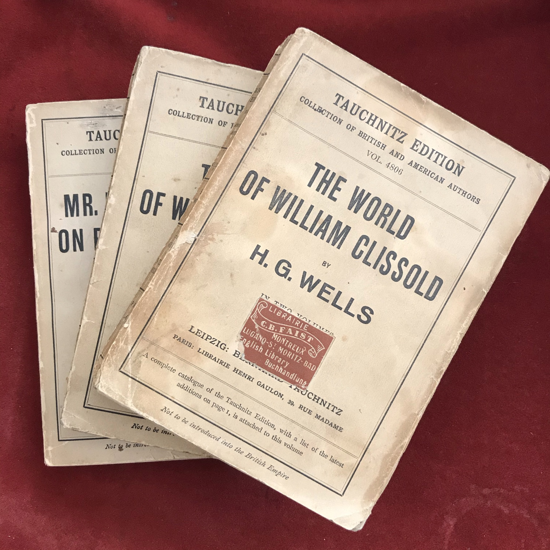 The World of William Clissold 3 volumesFirst edition with D/W, one volume with faded spine, - Image 3 of 3