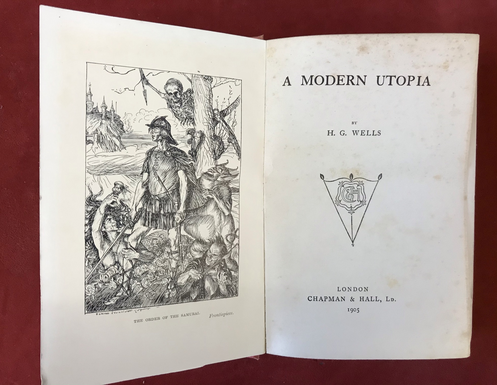 A Modern UtopiaFirst edition 1905, no D/W, faded spine - Image 3 of 3