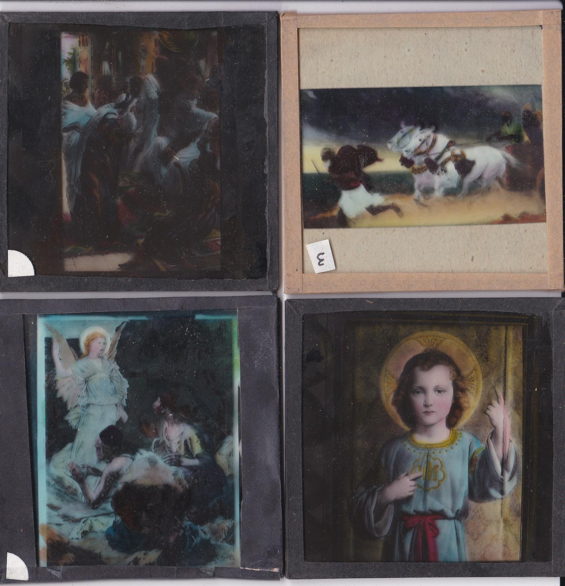 Religious Magic Lantern Slides (12) colour slides including: Joseph's Father in Egypt, Moses, The