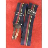 Royal Horse Artillery 'N' Battery (The Eagle Troop) stable belt, leather strap buckle.