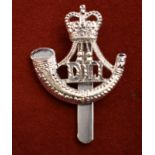 Durham Light Infantry 5th, 7th, 8th and 9th Battalions EIIR Cap Badge (Anodised), two lugs and