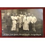 British WWI RP Postcard showing members of the 3rd Battalion, Scots Guards, Wellington Barracks. New