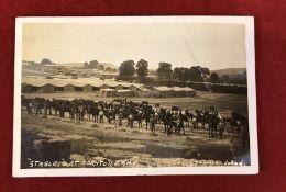 "Military Camp Postcard - 1915 RP Postcard Boyton Camp, Wilts ""Stables"" at Corydon Camp… Fine"