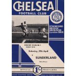 Chelsea v Sunderland 1968 April 27th League crossword completed in pen