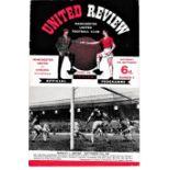 Manchester United v Chelsea 1965 September 18th League vertical crease