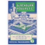 Blackburn Rovers v Chelsea 1960 March 30th vertical crease