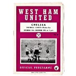 West Ham United v Chelsea 1963 December 14th League 1 football programme