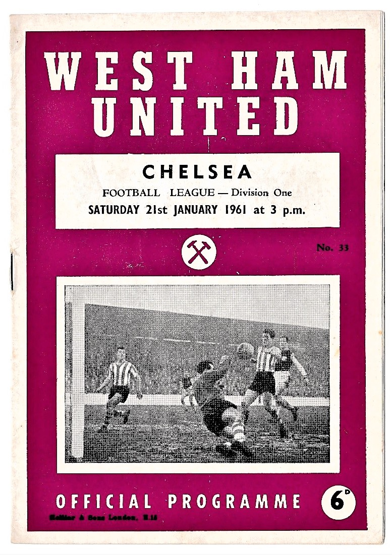 West Ham United v Chelsea 1961 January 21st Football League division one