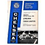 Chelsea v Leeds United 1965 November 6th League