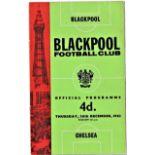 Blackpool v Chelsea 1963 December 26th League