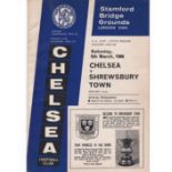 Chelsea v Shrewsbury Town 1966 March 5th FA Cup Fifth Round