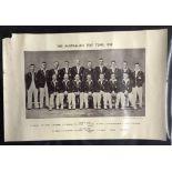 1938 Australian Test Team, News Chronical Photo print of the Team D G Bradman etc