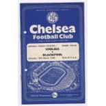 Chelsea V Blackpool 1960 March 19th vertical crease hole punched left
