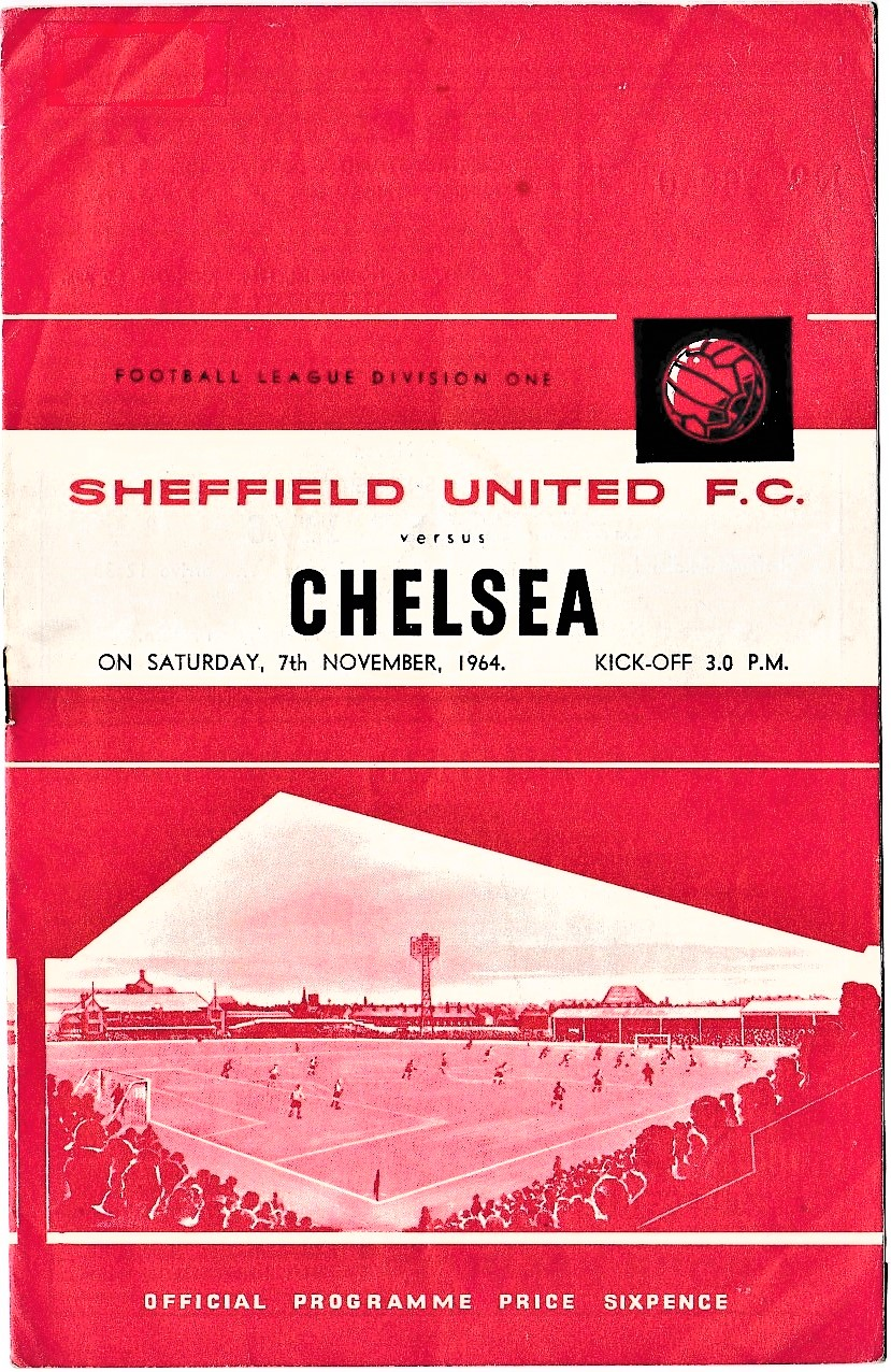 Sheffield United v Chelsea 1964 November 7th League 1 football programme
