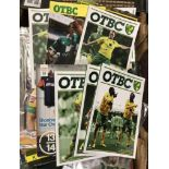 Norwich City Programme's 1976-2016 Home and Away (qty). Buyer collects this lot