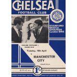Chelsea v Manchester City 1968 April 16th League