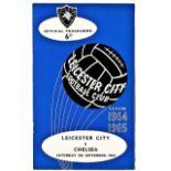 Leicester City v Chelsea 1964 September 5th League horizontal crease