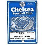 Chelsea v West Ham United 1962 February 3rd League 1 horizontal crease