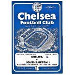 Chelsea v Southampton 1961 December 13th Football Combination horizontal & vertical creases small