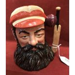 Another Royal Doulton W G Grace 6.5 inch Large Character Jug in very fine condition