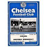 Chelsea v Sheffield Wednesday 1963 October 19th League team change in pen