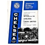 Chelsea v Leeds United 1964 September 19th League team change in pen score in pen on stickers